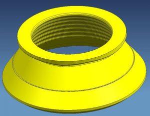 Modelo 3D de revestimiento de trituradora de cono