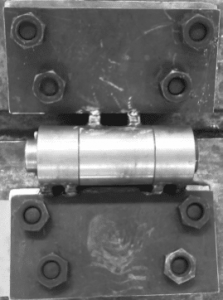 Apron feeder pans angle test fixture