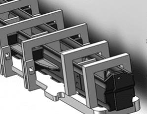 Apron feeder pans heat treatment tooling design