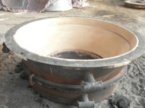 Trituradora de cono cóncava hacia abajo caja de arena