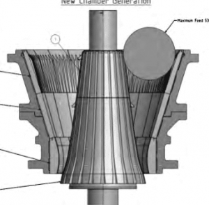 gyratory crusher mantle two-stage design