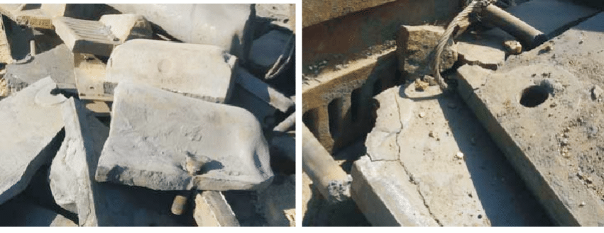 Fig. 1 main failure modes of SAG mill shell liners