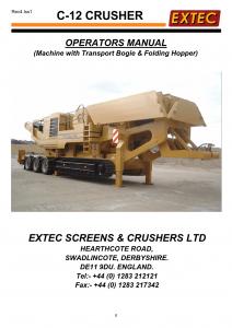 Extec C12 Operation Manual