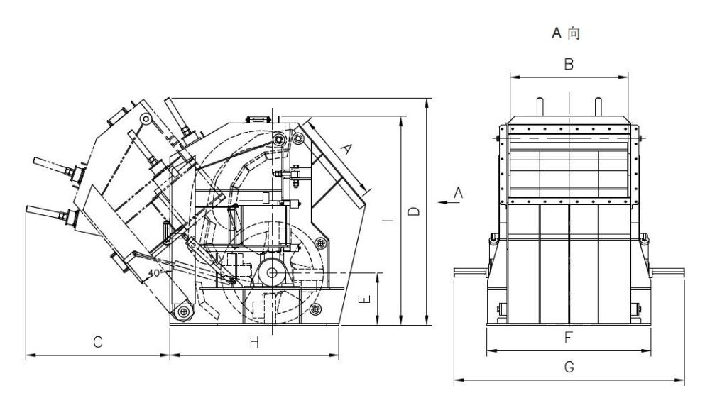 Horizontal Shaft Impactor Structure