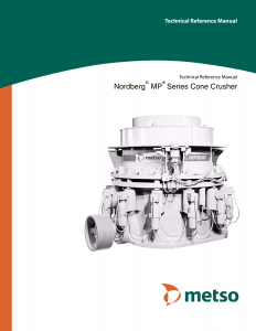Nordberg MP Series Cone Crusher Technical Reference Manual