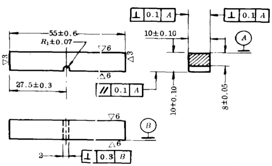 Fig.2-4 The size of the standard Charpy U-notched impact sample