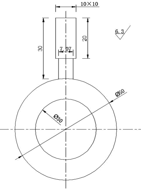 Fig.2-8 The schematic diagram of test-components under 9J impact energy