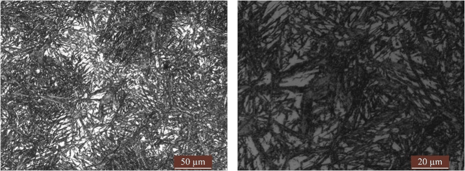 Fig.3-1 Microstructure of high carbon low alloy steels in different heat treatment process (e)(f)3#