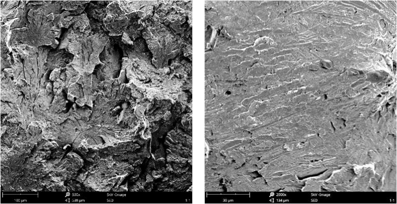 Fig.3-6 Fracture morphologies of high carbon low alloy steels in different heat treatment processes (i)(j)#5