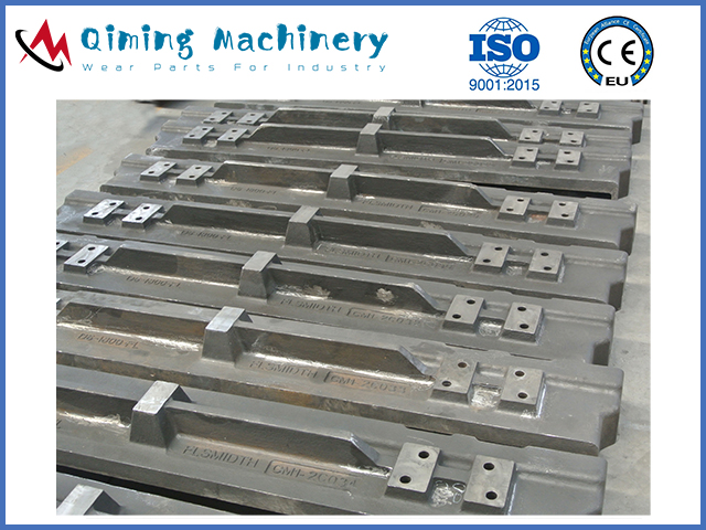 Manganese apron feeder pans by Qiming Machinery